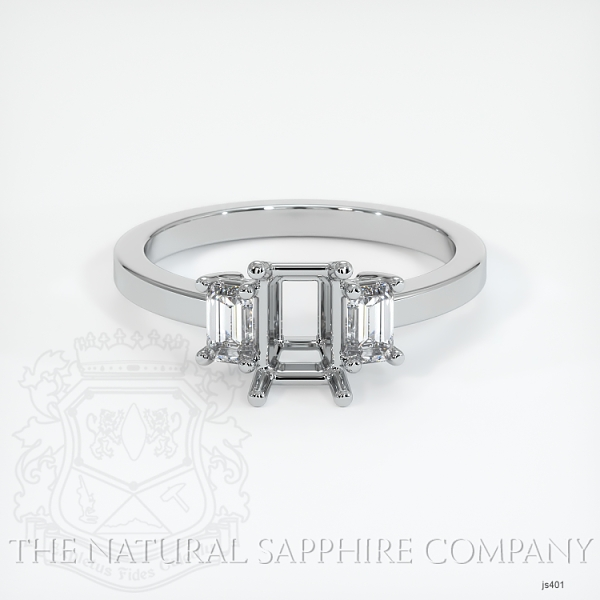4 Prong Multi Stone Ring Setting JS401 Image 2