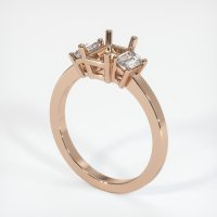 18K Rose Gold Ring Setting - JS401R18