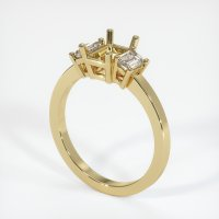 14K Yellow Gold Ring Setting - JS401Y14