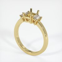 18K Yellow Gold Ring Setting - JS401Y18