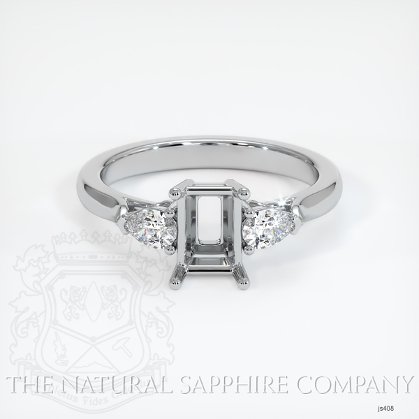 4 Prong Three Stone Ring - Pear Shape Diamonds JS408 Image 2