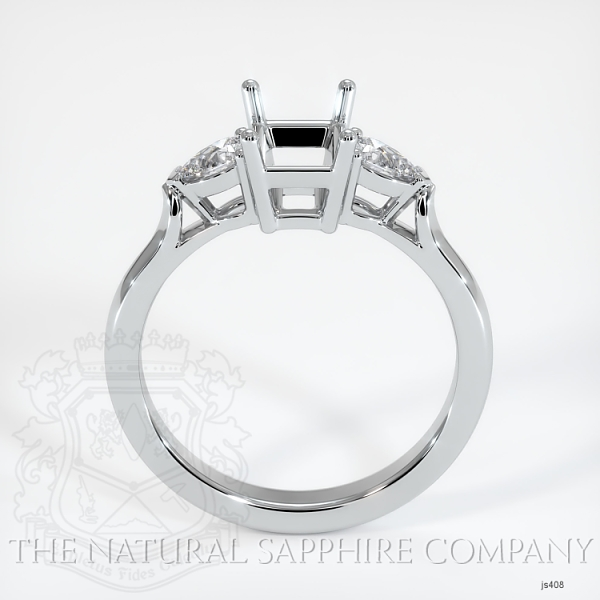 4 Prong Three Stone Ring - Pear Shape Diamonds JS408 Image 4