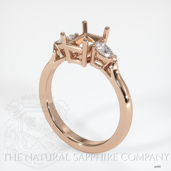 4 Prong Three Stone Ring - Pear Shape Diamonds JS408 Image