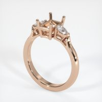 18K Rose Gold Ring Setting - JS408R18