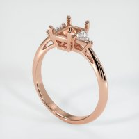 14K Rose Gold Ring Setting - JS409R14