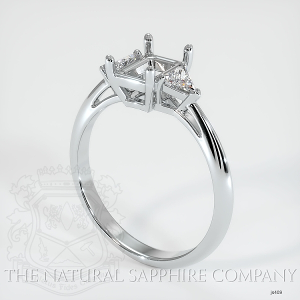 Three Stone Ring Setting - Trillion Diamonds JS409 Image