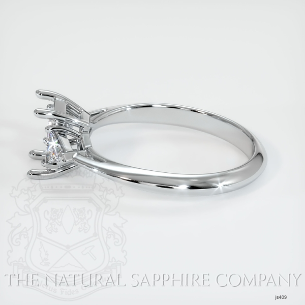Three Stone Ring Setting - Trillion Diamonds JS409 Image 3