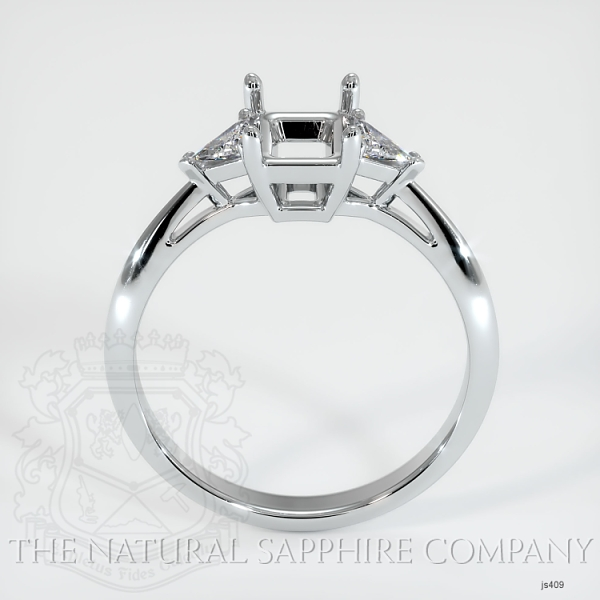 Three Stone Ring Setting - Trillion Diamonds JS409 Image 4
