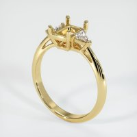 18K Yellow Gold Ring Setting - JS409Y18