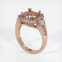 14K Rose Gold Pave Diamond Ring Setting - JS411R14