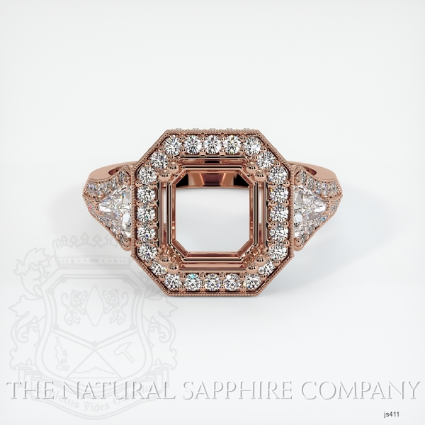Antique Style Pave And Multi Stone Ring Setting JS411 Image 2
