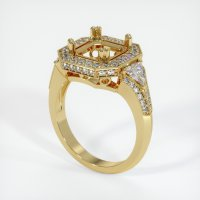 18K Yellow Gold Pave Diamond Ring Setting - JS411Y18