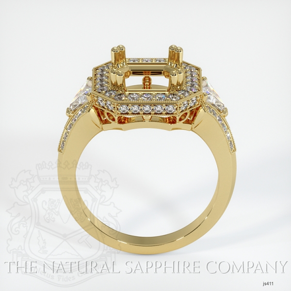 Antique Style Pave And Multi Stone Ring Setting JS411 Image 4