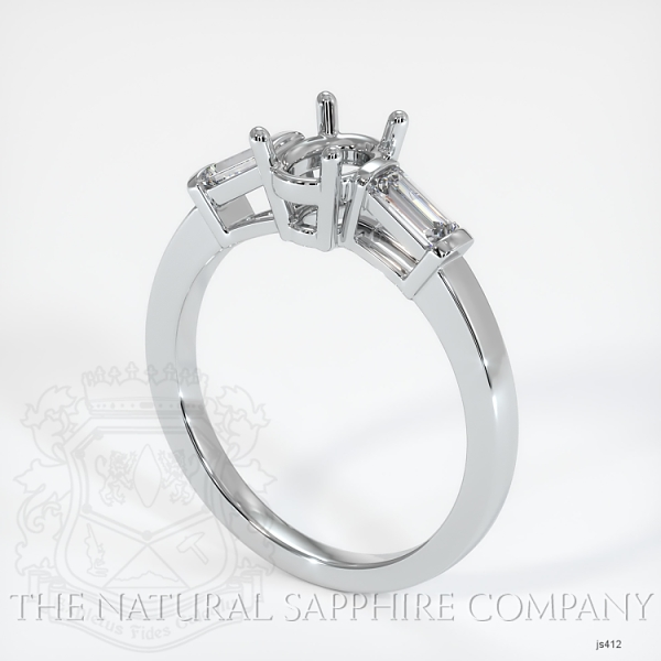 3 Stone Ring Setting - Straight Baguette Diamonds JS412 Image