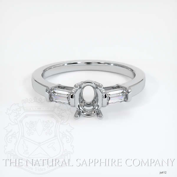 3 Stone Ring Setting - Straight Baguette Diamonds JS412 Image 2