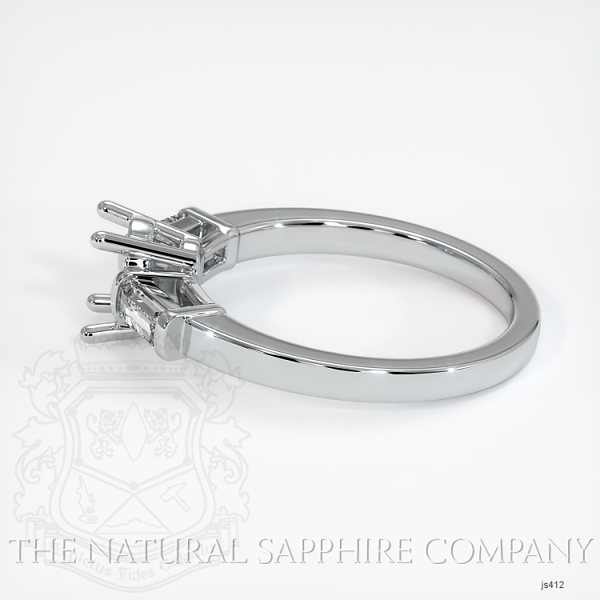 3 Stone Ring Setting - Straight Baguette Diamonds JS412 Image 3