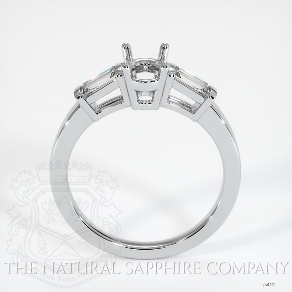 3 Stone Ring Setting - Straight Baguette Diamonds JS412 Image 4