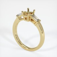 14K Yellow Gold Ring Setting - JS412Y14
