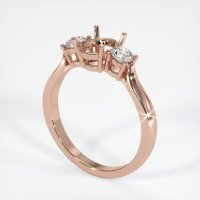14K Rose Gold Ring Setting - JS419R14