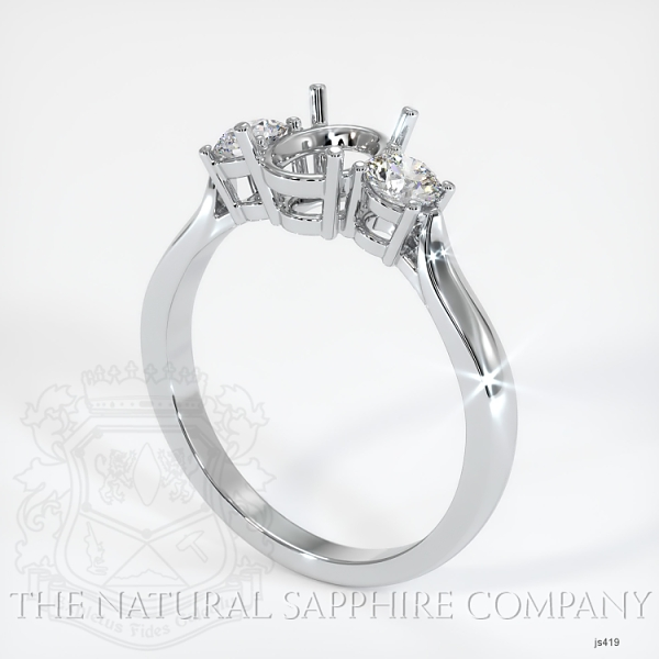 3 Stone Ring Setting - Round Diamonds JS419 Image