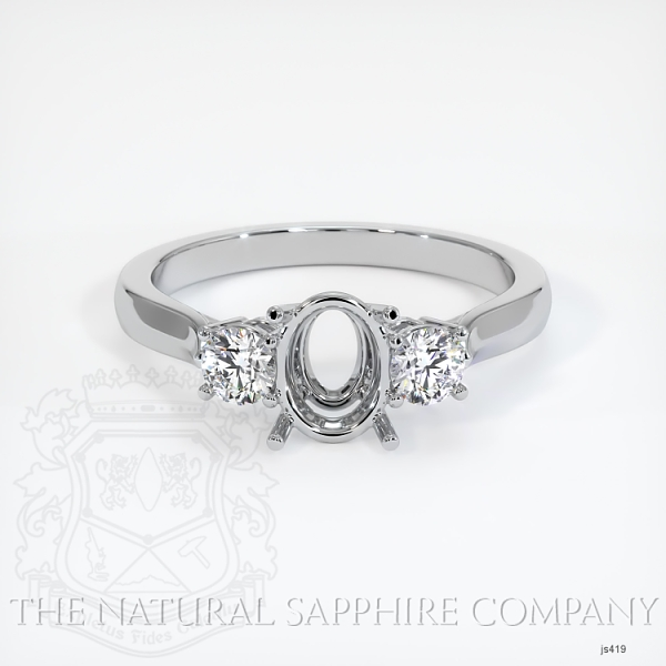 3 Stone Ring Setting - Round Diamonds JS419 Image 2