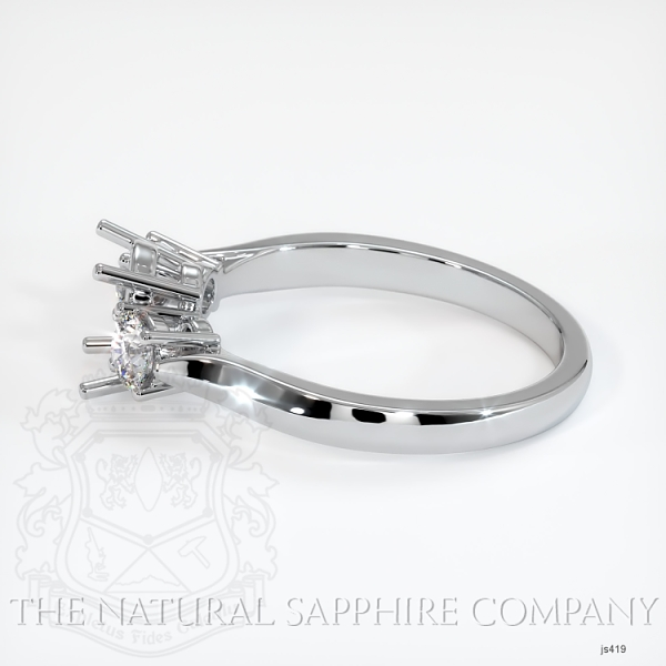 3 Stone Ring Setting - Round Diamonds JS419 Image 3