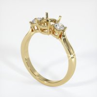 14K Yellow Gold Ring Setting - JS419Y14