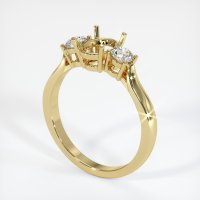 18K Yellow Gold Ring Setting - JS419Y18
