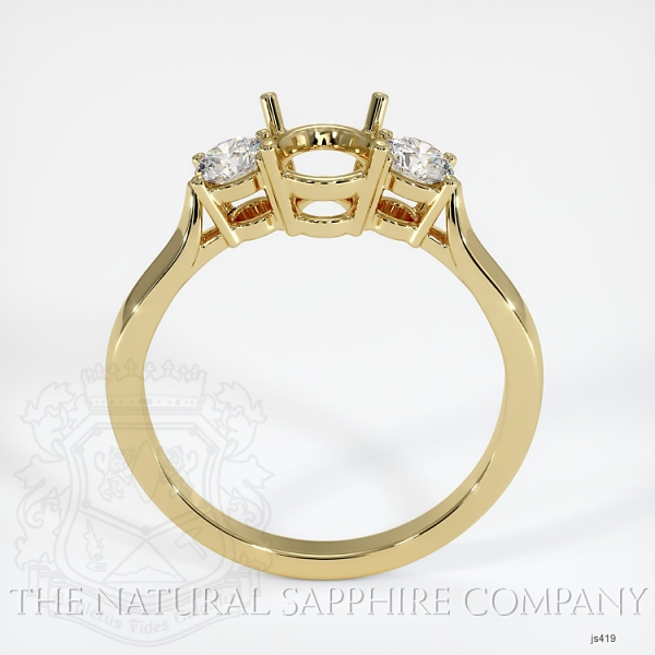 3 Stone Ring Setting - Round Diamonds JS419 Image 4