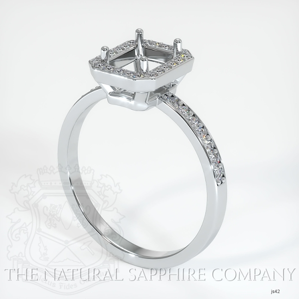 4 Prong Pave Ring Setting JS42 Image