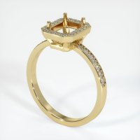 14K Yellow Gold Pave Diamond Ring Setting - JS42Y14