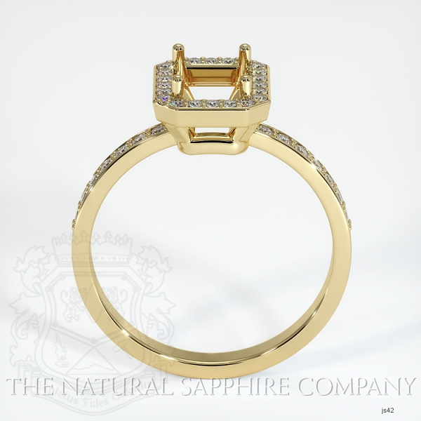 4 Prong Pave Ring Setting JS42 Image 4