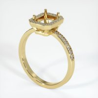 18K Yellow Gold Pave Diamond Ring Setting - JS42Y18