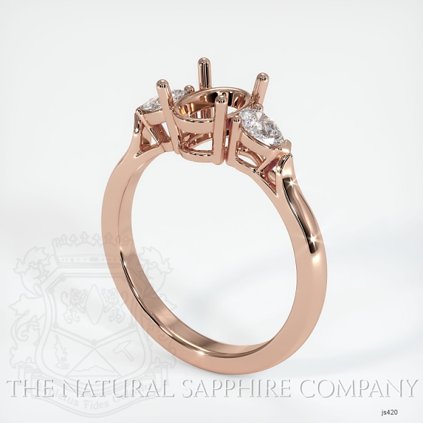 4 Prong Three Stone Ring - Pear Shape Diamonds JS420 Image