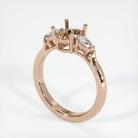 18K Rose Gold Ring Setting - JS420R18