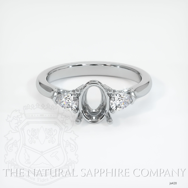 4 Prong Three Stone Ring - Pear Shape Diamonds JS420 Image 2