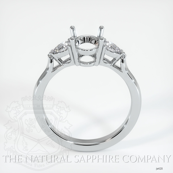 4 Prong Three Stone Ring - Pear Shape Diamonds JS420 Image 4