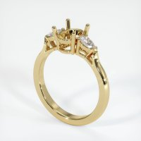 14K Yellow Gold Ring Setting - JS420Y14