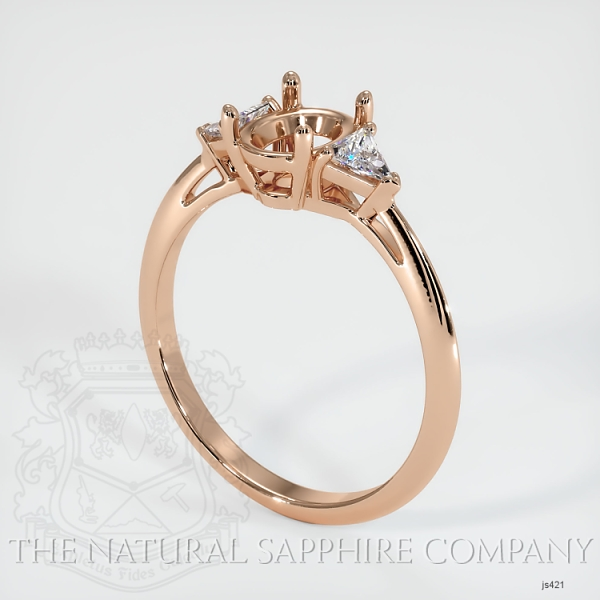 4 Prong Three Stone Ring - Trillion Diamonds JS421 Image