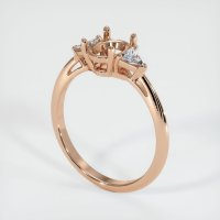 18K Rose Gold Ring Setting - JS421R18