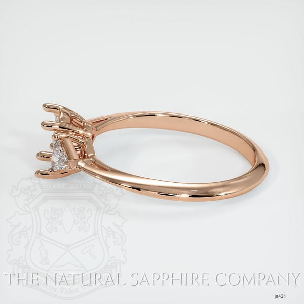 4 Prong Three Stone Ring - Trillion Diamonds JS421 Image 3
