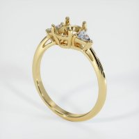 14K Yellow Gold Ring Setting - JS421Y14