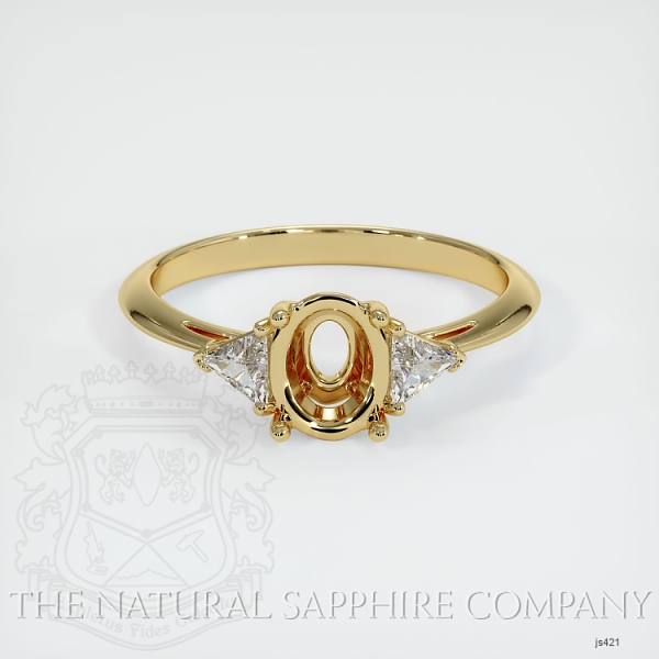 4 Prong Three Stone Ring - Trillion Diamonds JS421 Image 2