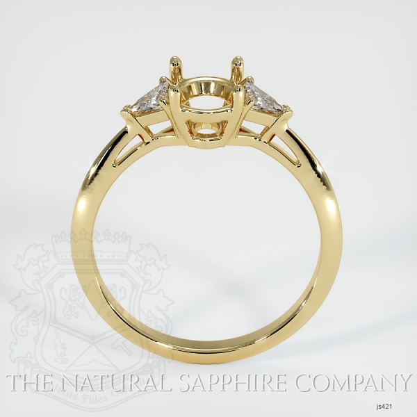 4 Prong Three Stone Ring - Trillion Diamonds JS421 Image 4