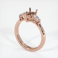 14K Rose Gold Ring Setting - JS433R14