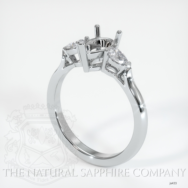 Three Stone Ring - Pear Shape Diamonds JS433 Image