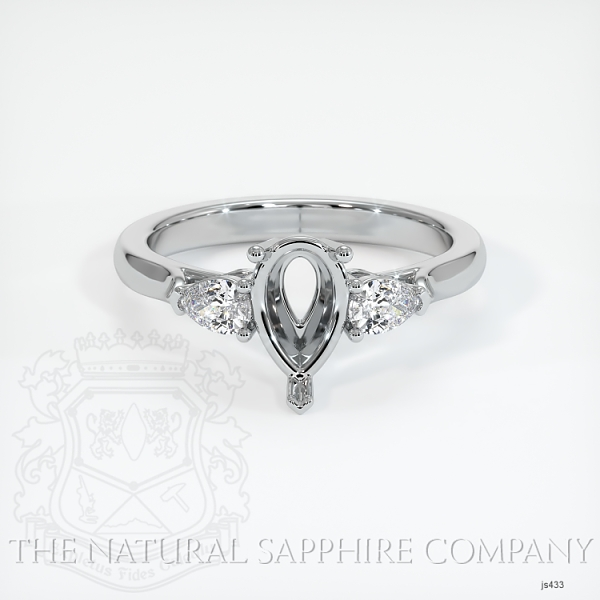 Three Stone Ring - Pear Shape Diamonds JS433 Image 2