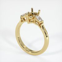 18K Yellow Gold Ring Setting - JS433Y18