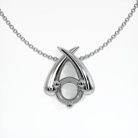 14K White Gold Pendant Setting - JS444W14