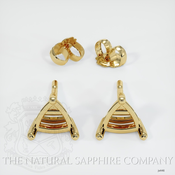 Triangle Shape Center Stone 3 Prong Earring Setting JS446 Image 3
